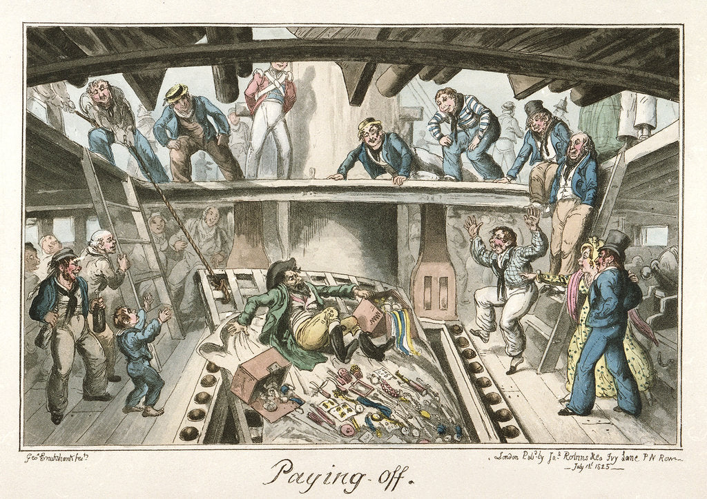 Detail of Paying Off' by George Cruikshank