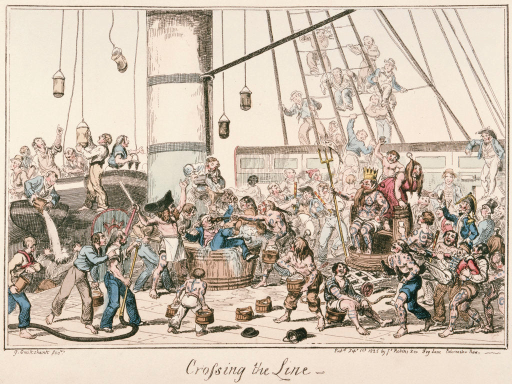Detail of Crossing the Line by George Cruikshank
