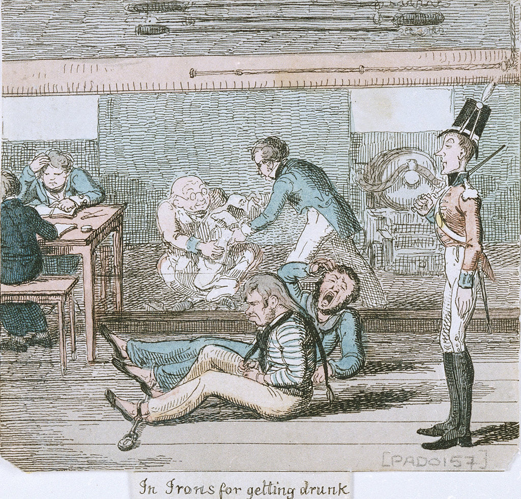Detail of In Irons for getting drunk' from 'A Sailor's Progress by George Cruikshank