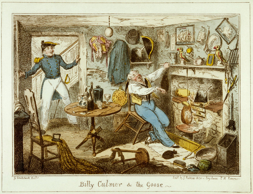 Detail of Billy Culmer & The Goose by George Cruikshank