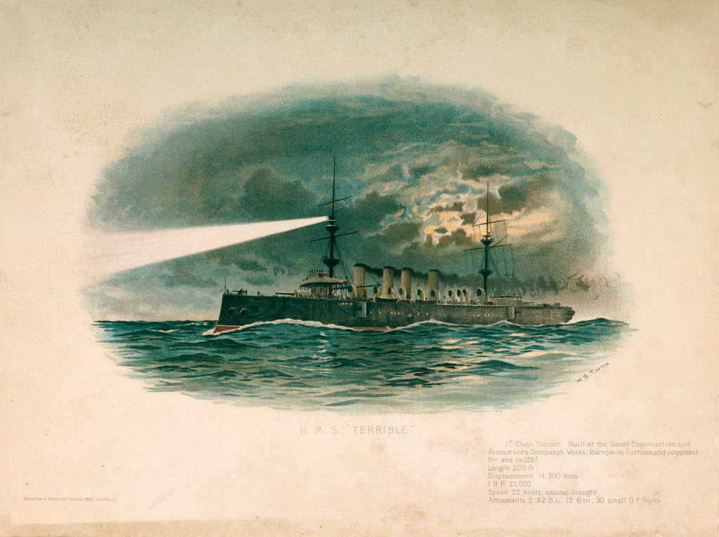 Detail of HMS 'Terrible' (Br, 1897) by W.S. Tomkin