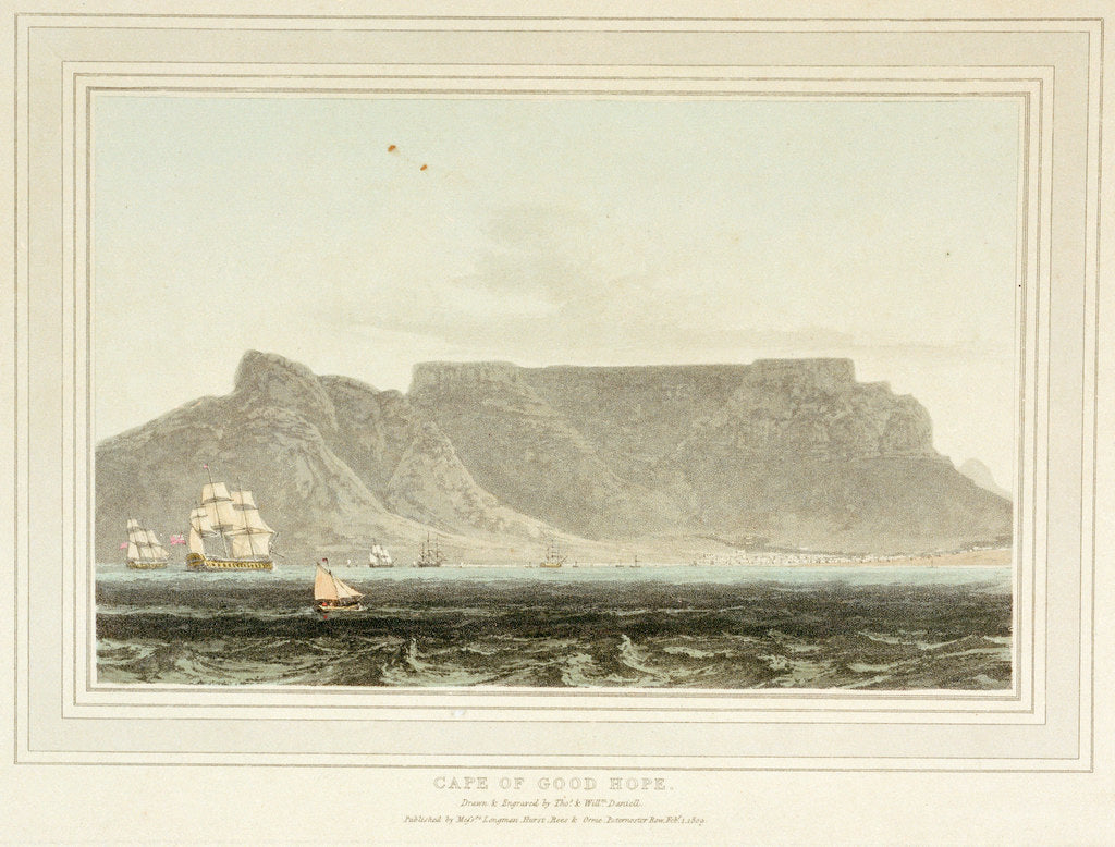 Detail of Cape of Good Hope by Thomas Daniell