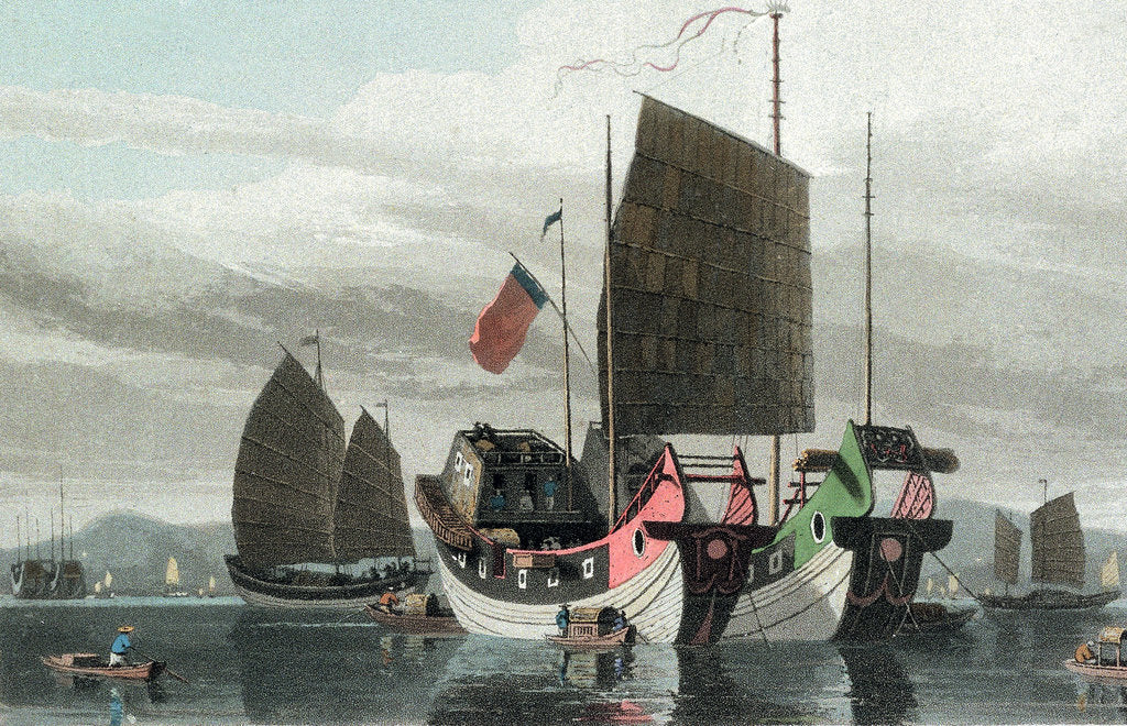Detail of Chinese Junks by Thomas Daniell