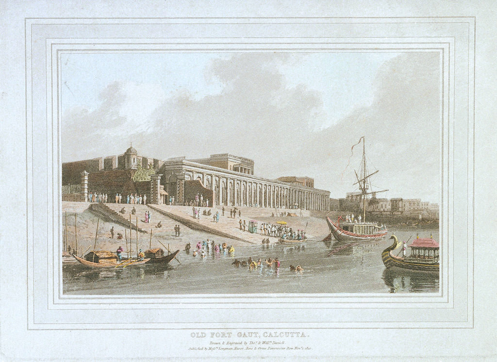 Detail of Old Fort Gaut, Calcutta, India by Thomas Daniell