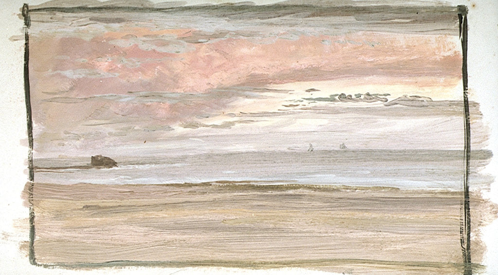 Detail of A Coastal View Near Wimereux, Northern France by William Lionel Wyllie