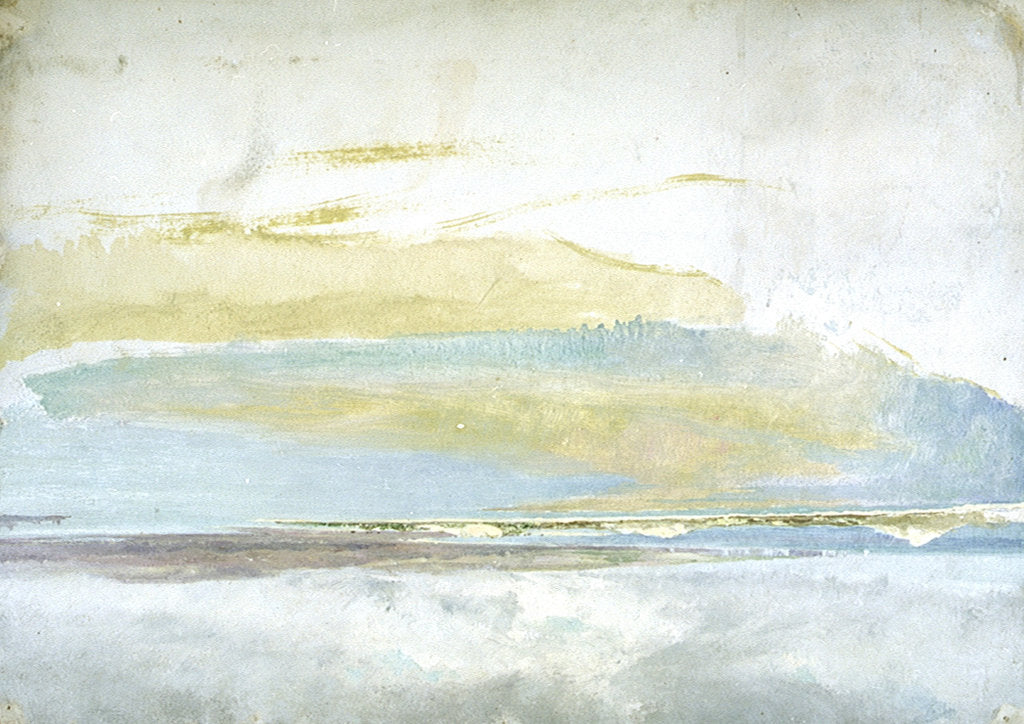 Detail of A view across Poole Harbour towards the Isle of Purbeck, with Old Harry Rocks by William Lionel Wyllie