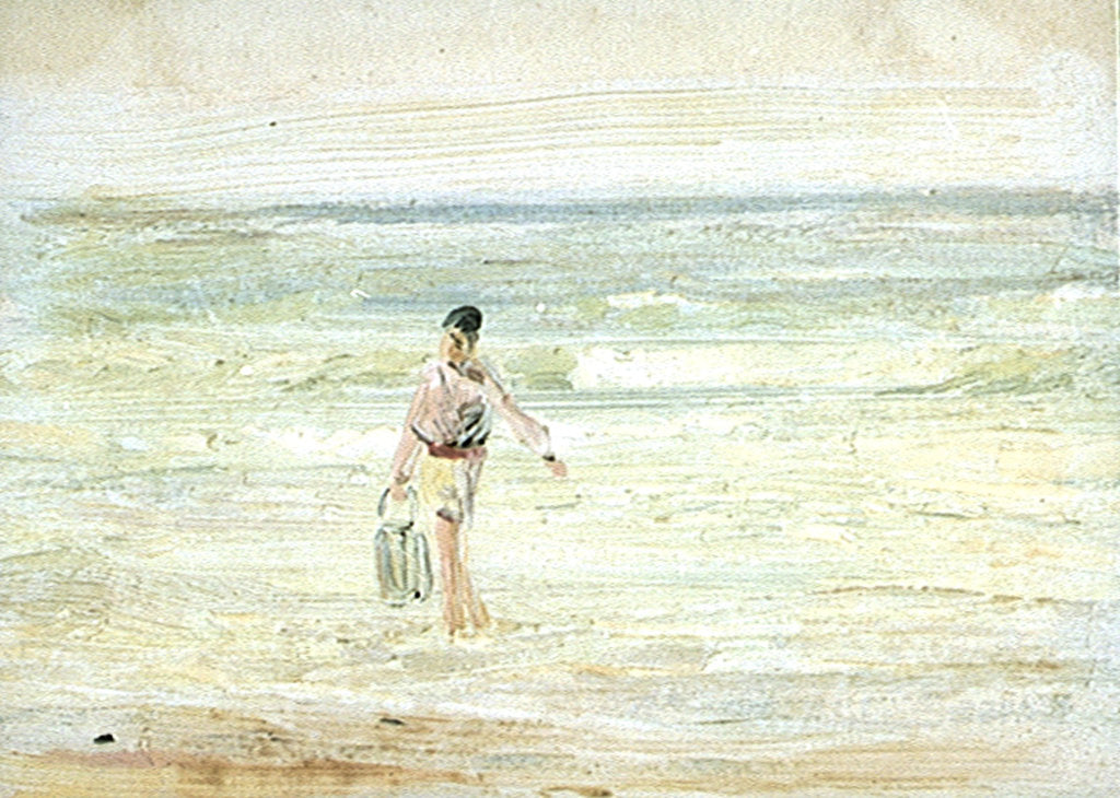 Detail of Study of a figure at the water by William Lionel Wyllie