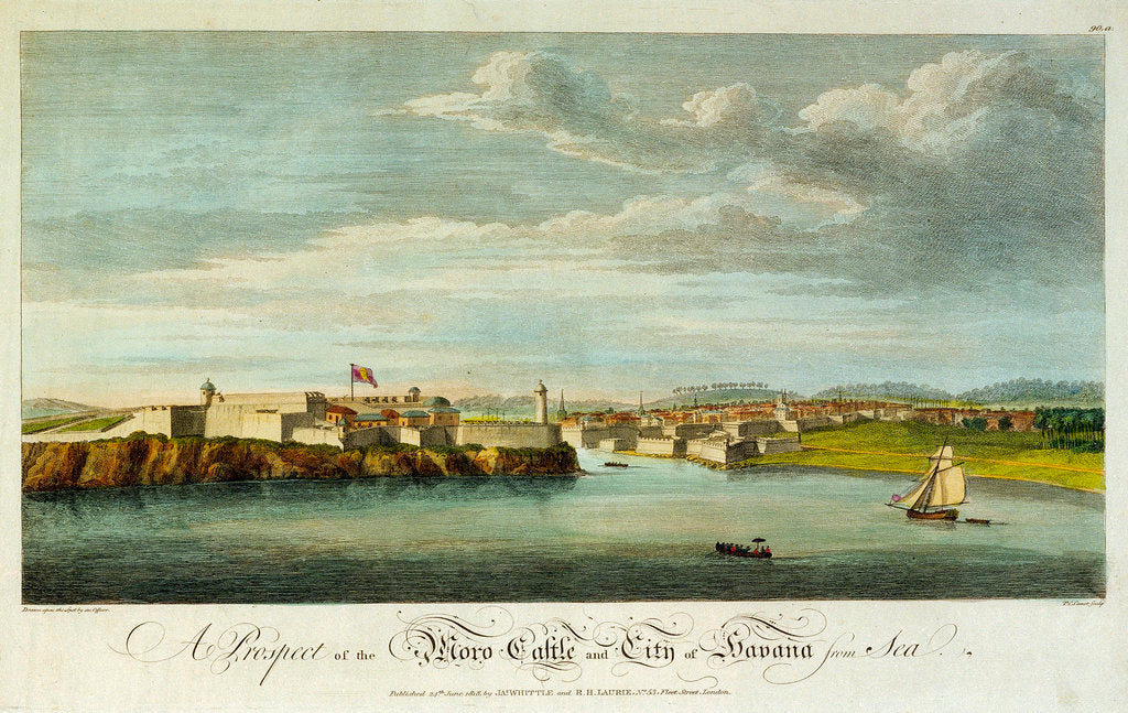 Detail of A prospect of the Moro Castle and city of Havana from sea by Office