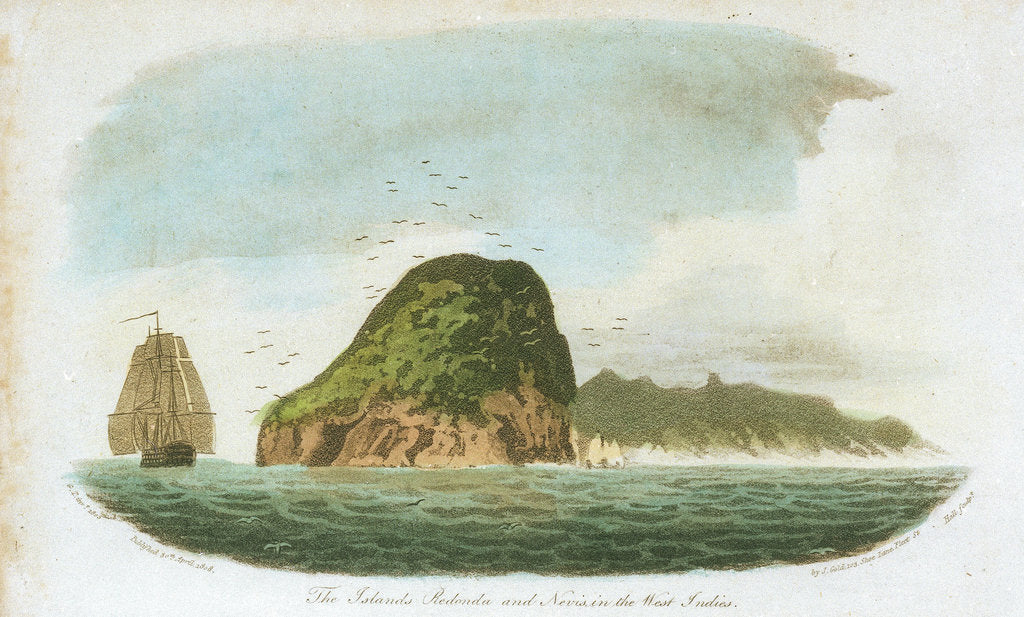 Detail of The Islands Redonda and Nevis in the West Indies by G.T.