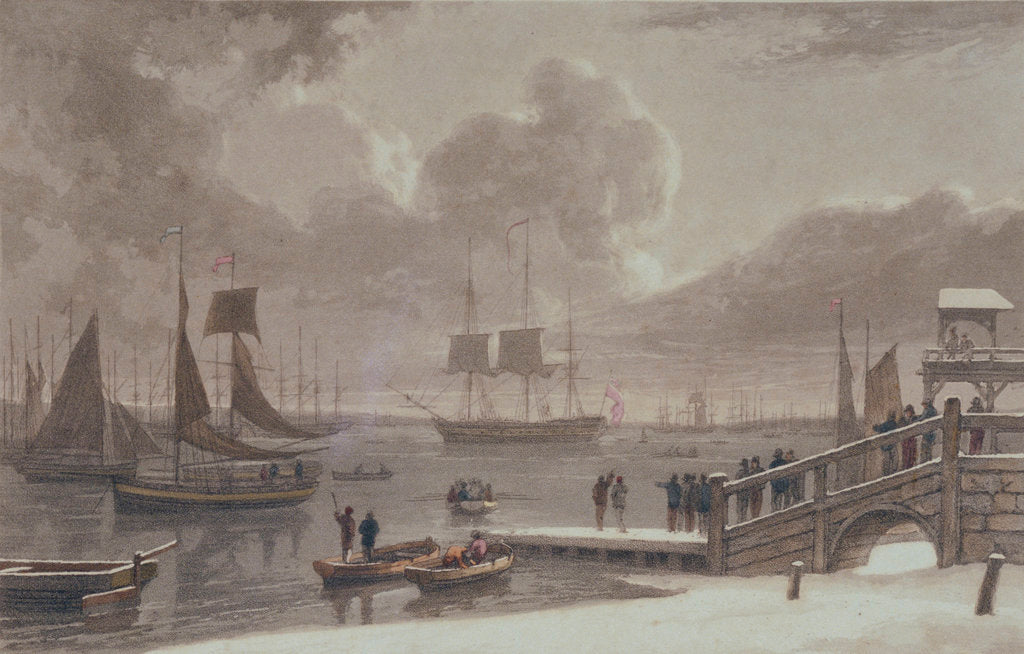 Detail of Gravesend by Thomas Daniell