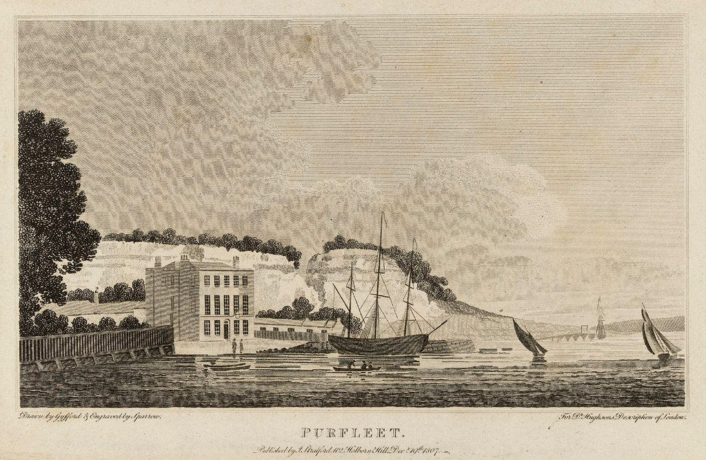 Detail of Purfleet. For Dr Hughson's Description of London by Sparrow