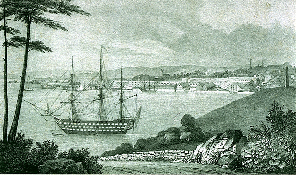 Detail of Devonport from Maker Heights by George Rowe