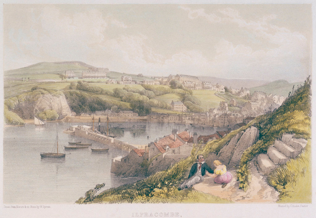 Detail of Ilfracombe, from the Lantern Hill, North Devon No.1 by W. Spreat