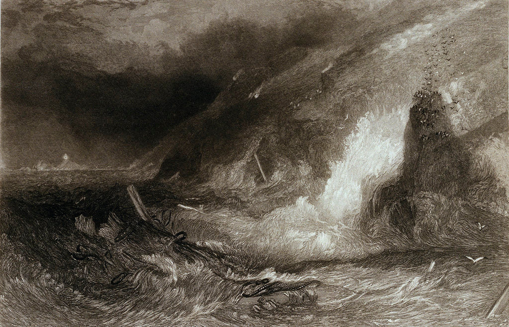 Detail of Long-ship's light houses. Lands End by Joseph Mallord William Turner
