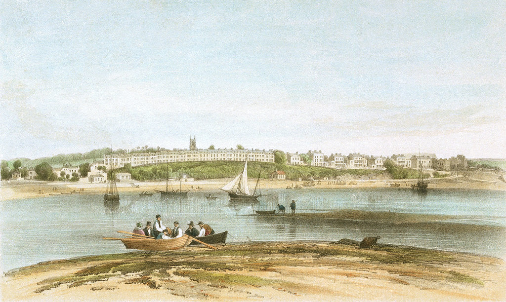 Detail of Exmouth from the Warren Point by W. Spreat