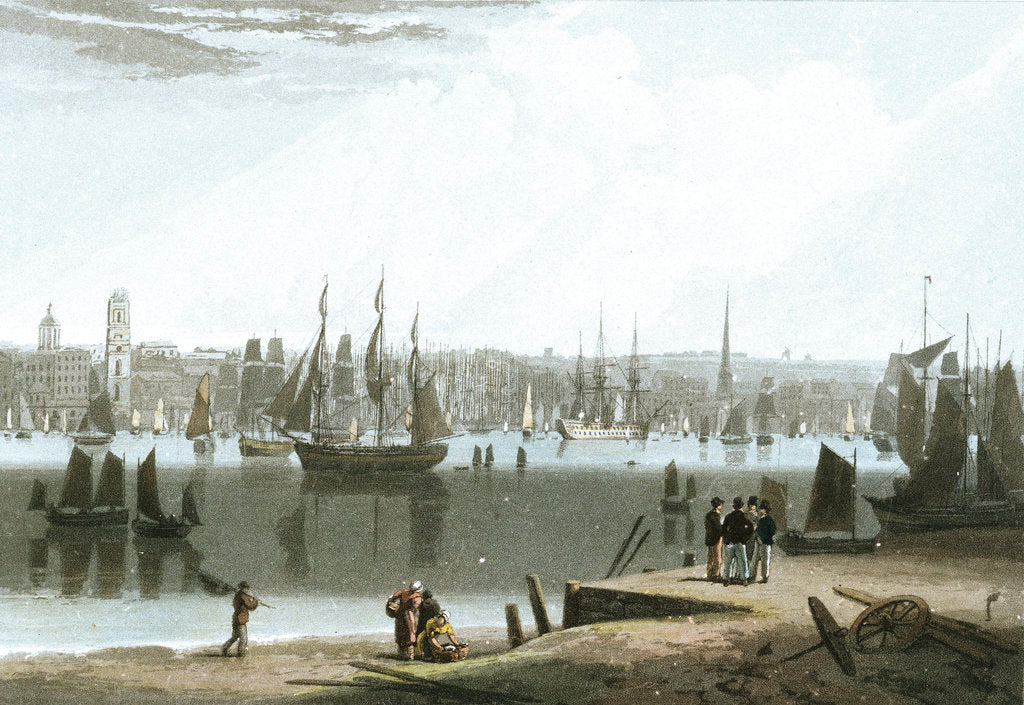 Detail of Liverpool, taken from the opposite side of the River by William Daniell