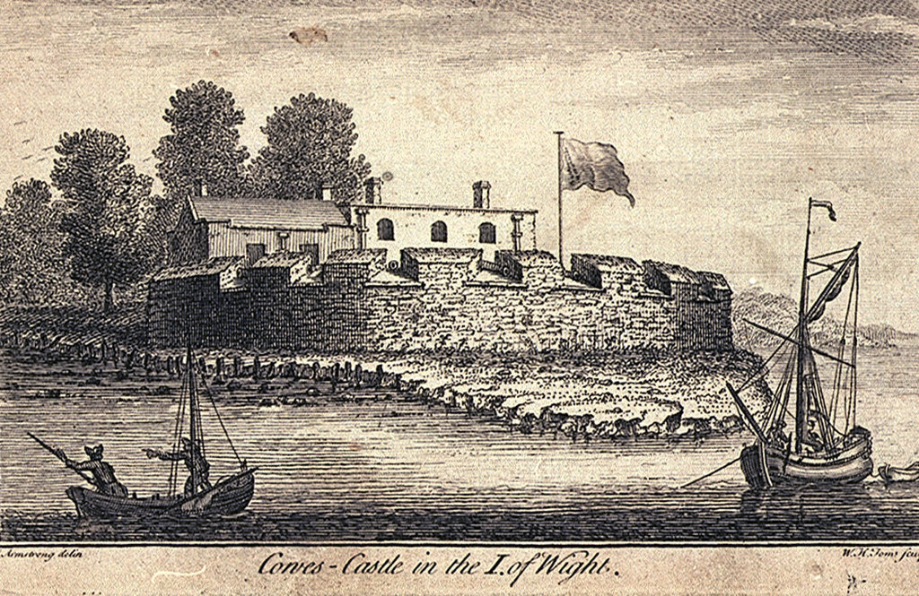 Detail of Cowes Castle in the Isle of Wight by J Armstrong