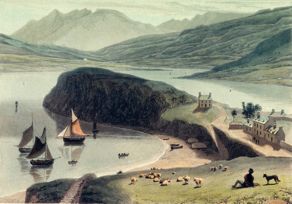 Detail of Portree on the Isle of Skye by William Daniell