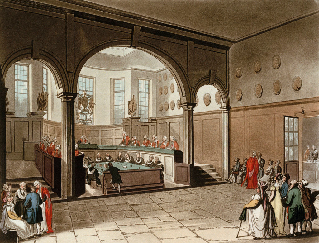 Detail of Doctors commons by Thomas Rowlandson