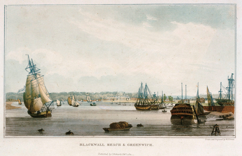 Detail of Blackwall Reach & Greenwich by W.H. Timms