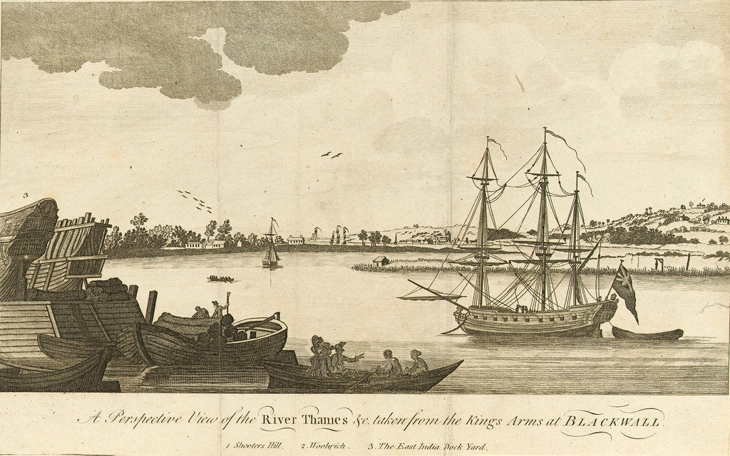 Detail of A perspective view of the river Thames by unknown