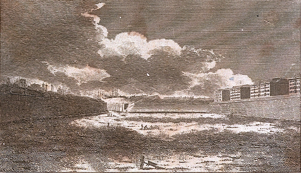 Detail of The West India Docks, as they appeared in March 1802 by unknown