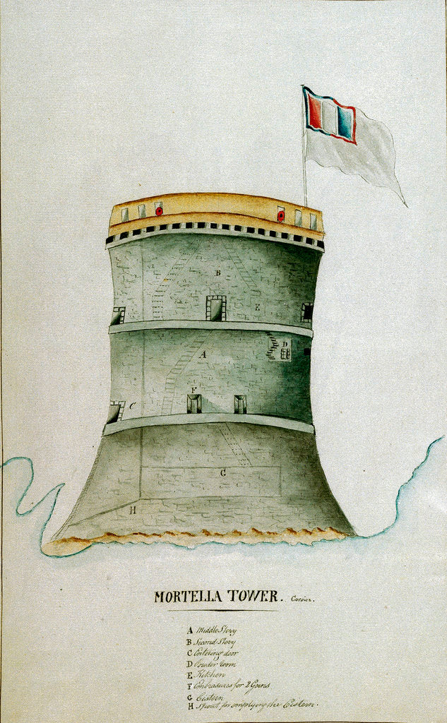 Detail of Mortella Tower, Corsica by C. F. D.