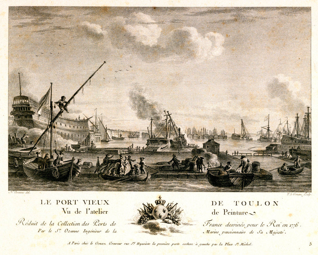 Detail of View of Toulon port, 1776 by Nicolas Marie Ozanne