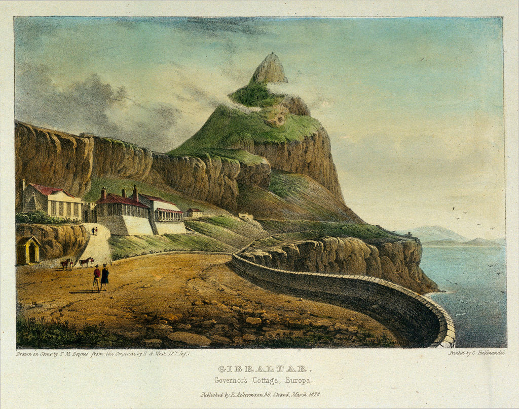 Detail of Gibraltar. Governor's Cottage, Europa by H.A. West