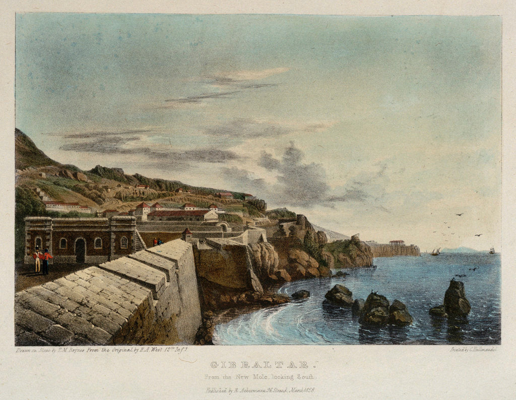 Detail of Gibraltar. From the New Mole, looking south by H.A. West