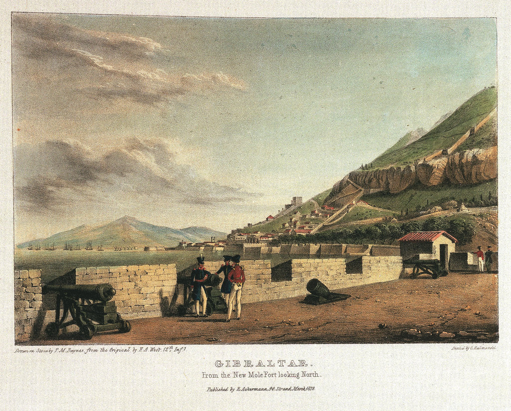 Detail of Gibraltar. From the New Mole Fort looking sorth by H.A. West