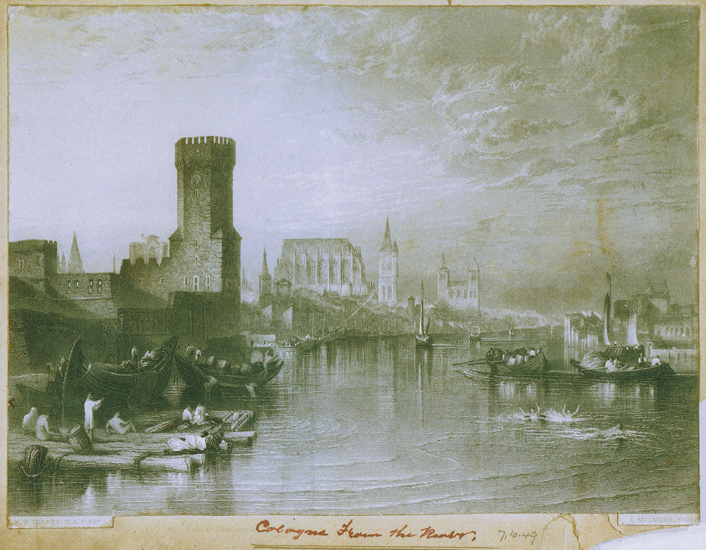 Detail of Cologne, Germany by Joseph Mallord William Turner
