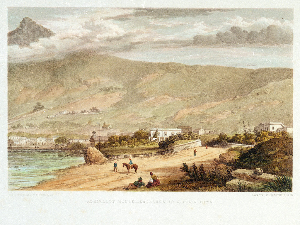 Detail of Admiralty House - Entrance to Simon's Town by Thomas William Bowler