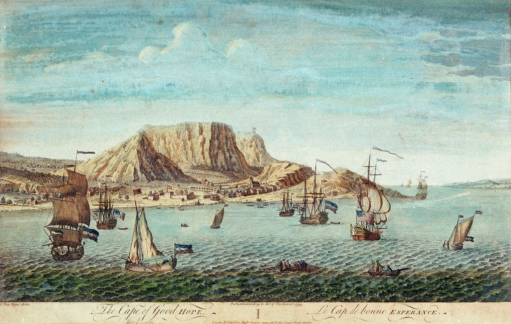 Detail of The Cape of Good Hope by Jan van Ryne