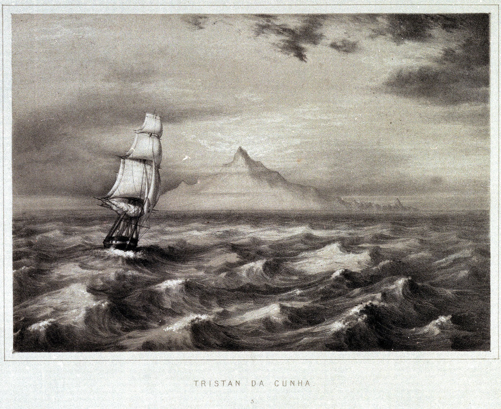 Detail of Tristan da Cunha, Indian Ocean by unknown