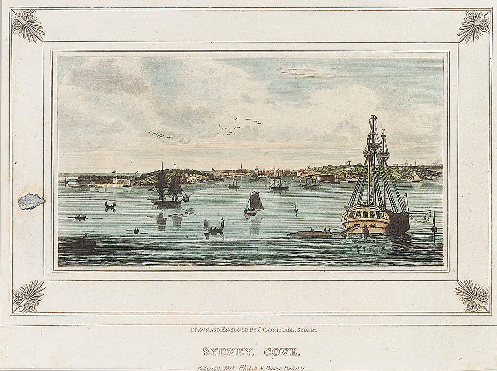 Detail of Sydney Cove. Between Fort Philip & Dawes Battery by John Wilson Carmichael