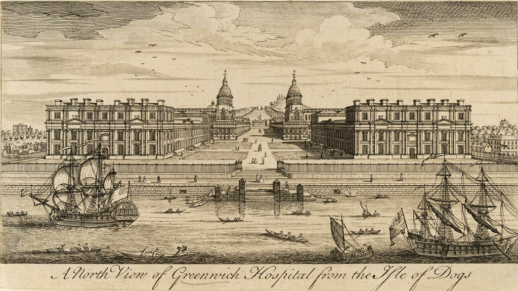 Detail of A north view of Greenwich Hospital from the Isle of Dogs by unknown