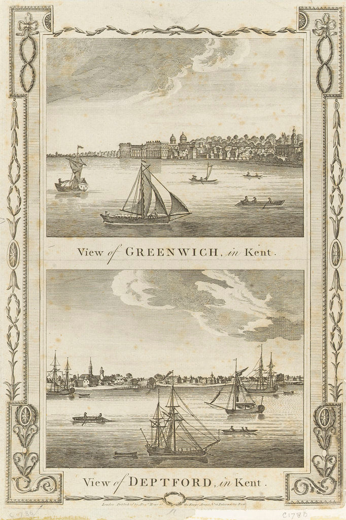 Detail of View of Greenwich, in Kent by Alexander Hogg