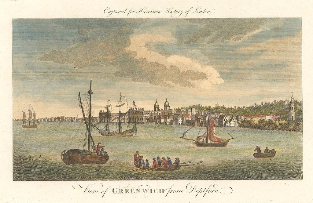 Detail of View of Greenwich from Deptford by unknown