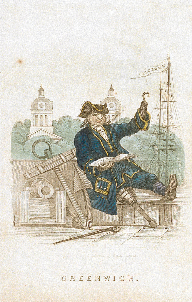 Detail of Greenwich Pensioner by Charles Castle