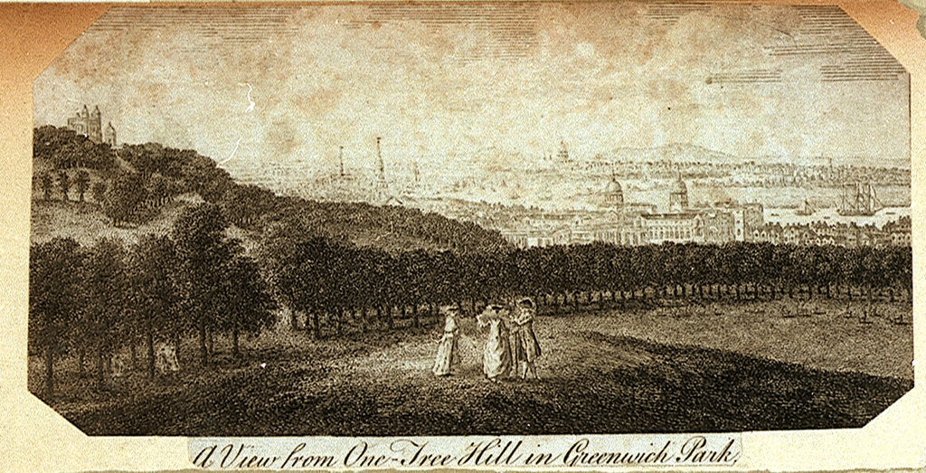 Detail of A View from One-Tree Hill in Greenwich Park by Pieter Tillemans