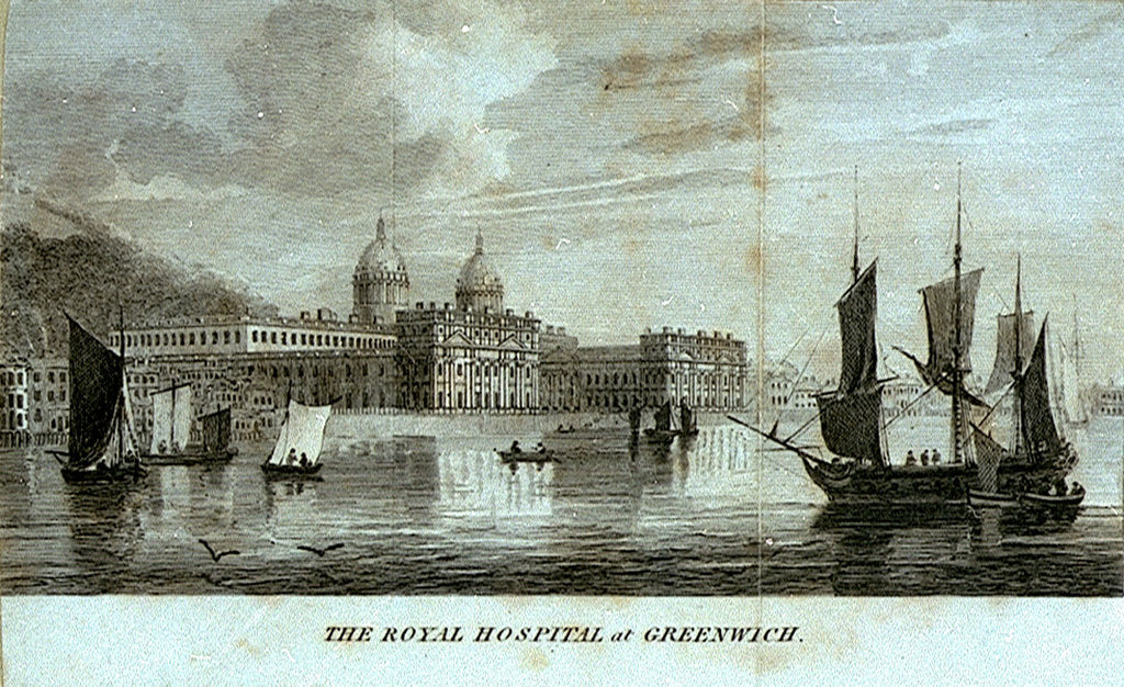 Detail of The Royal Hospital at Greenwich by unknown