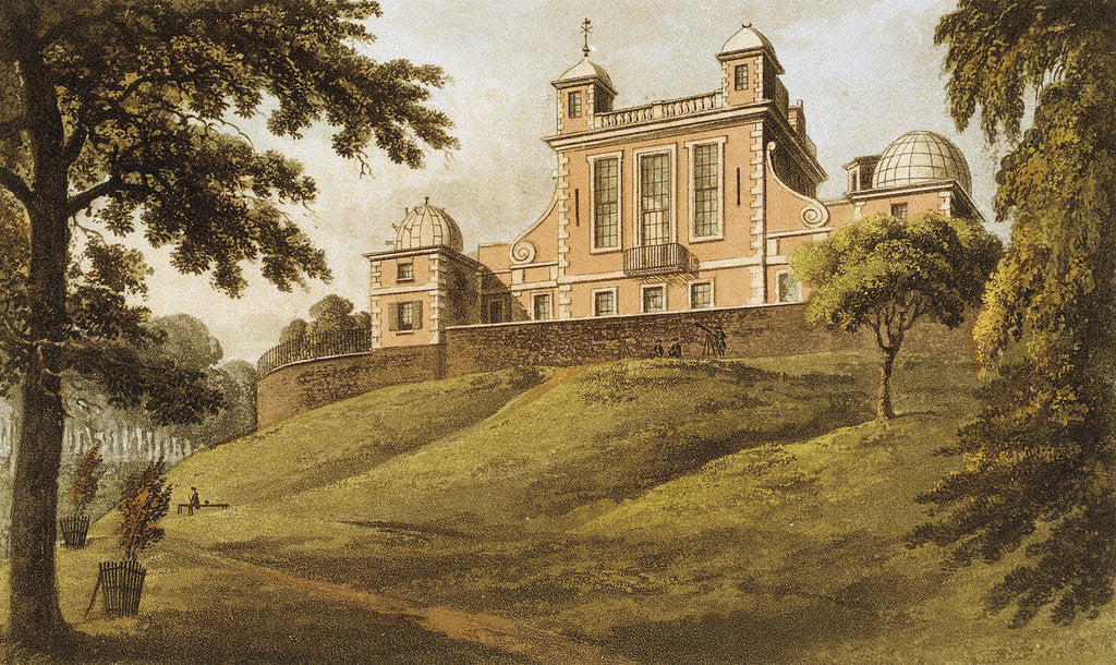 Detail of Flamsteed House (Royal Observatory, Greenwich Park) by Thomas Hosmer Shepherd