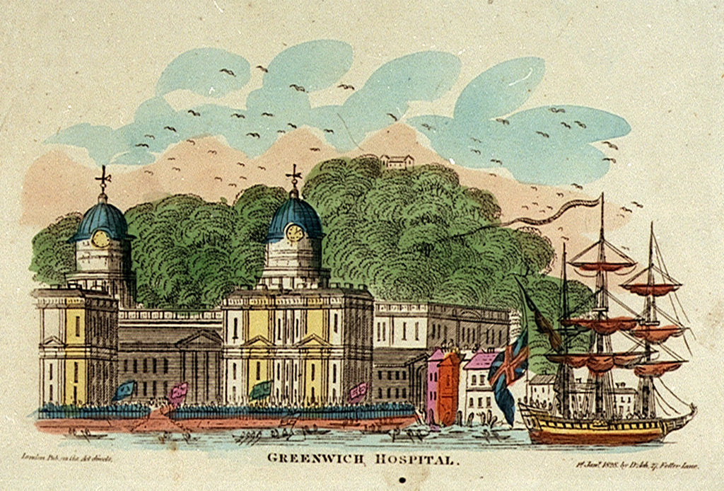 Detail of Greenwich Hospital by D. Ash