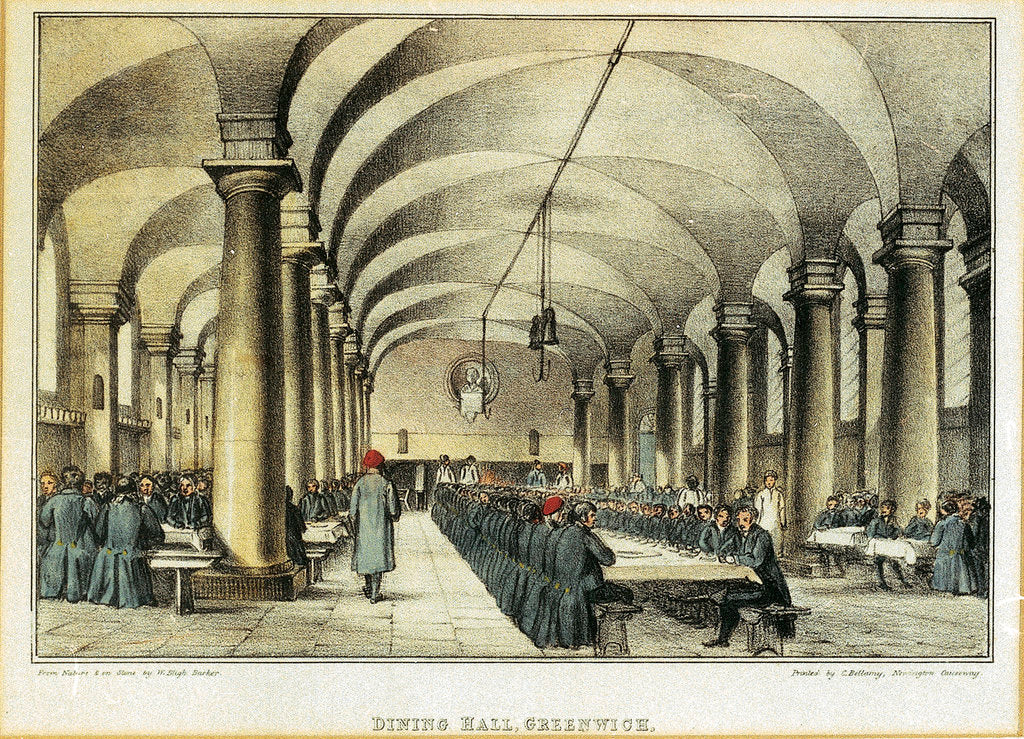Detail of Dining Hall, Greenwich by W. Bligh Barker