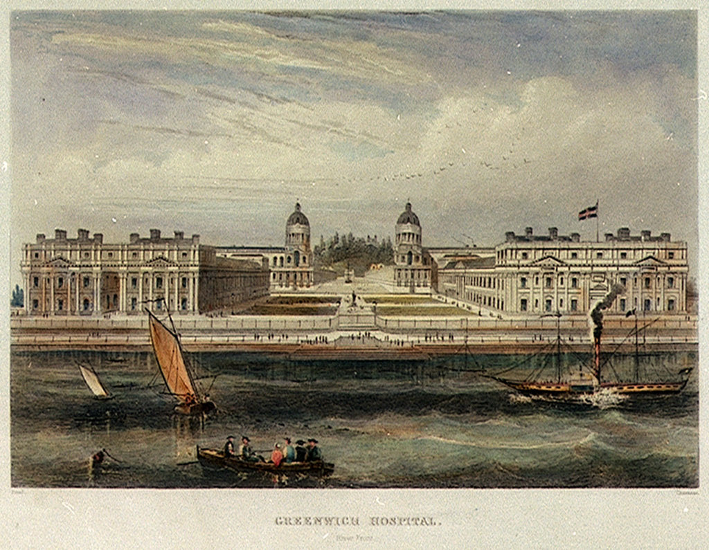 Detail of Greenwich Hospital. River Front by Read