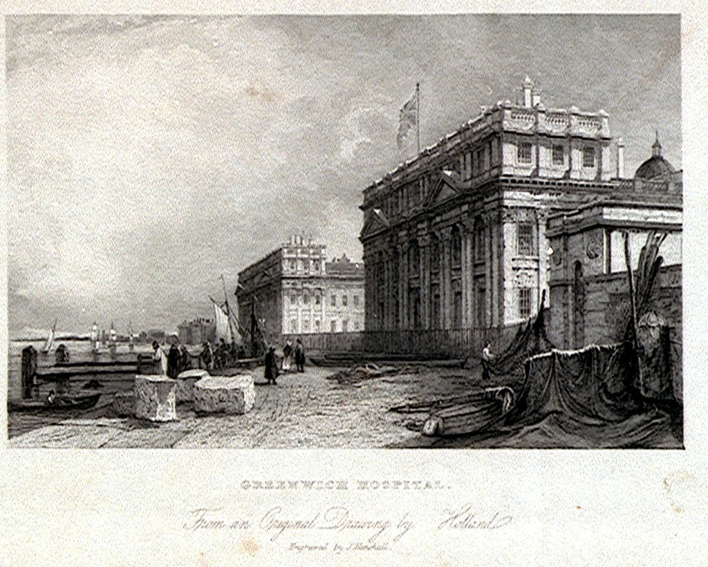 Detail of Greenwich Hospital by James Holland