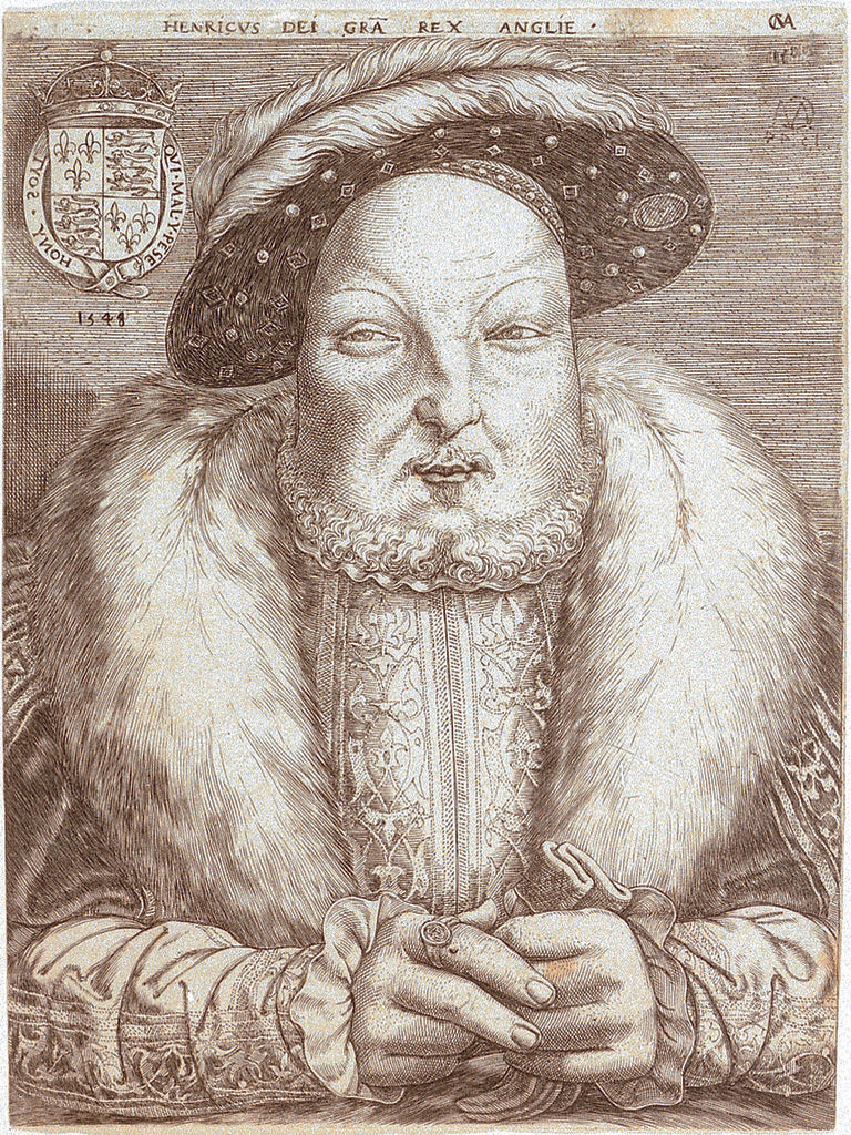 Detail of Henry VIII of England (1491-1547) by Cornelis Massys