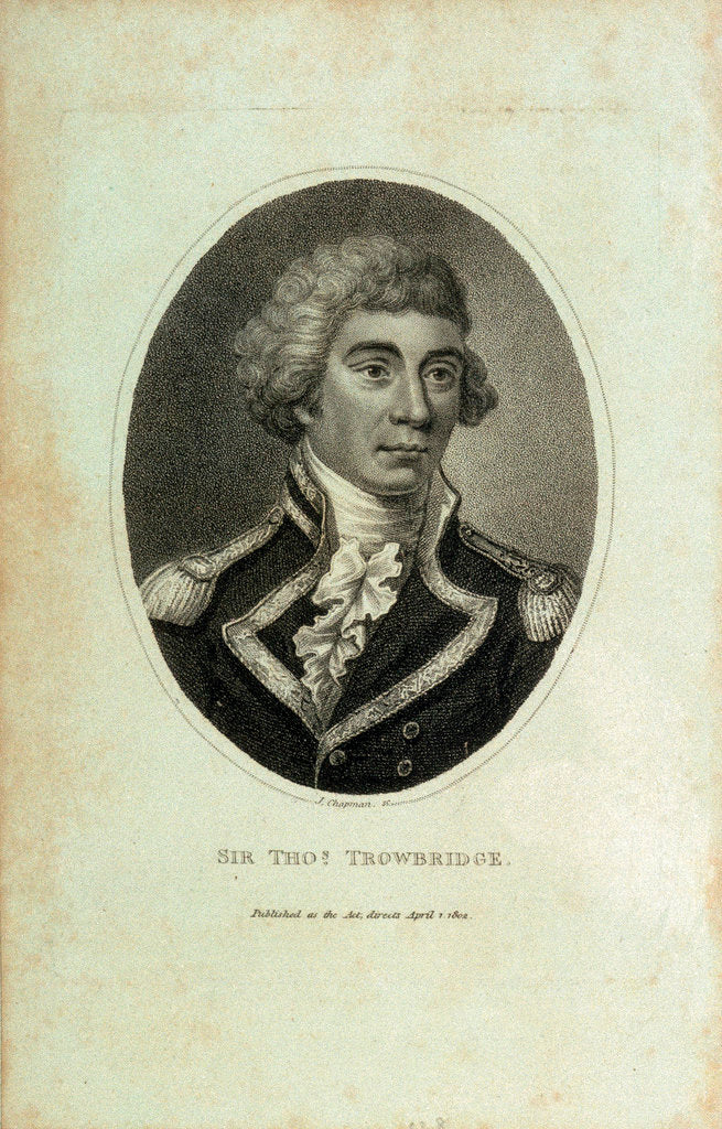 Detail of Sir Thomas Trowbridge by John Chapman