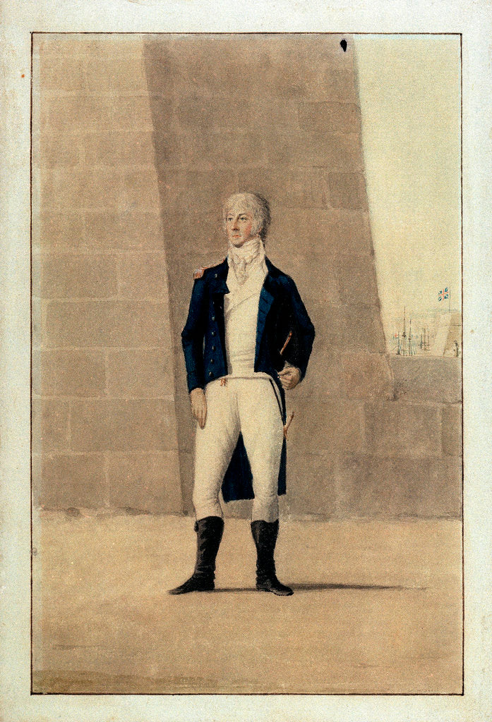 Detail of Unknown gentleman wearing officer's uniform of 1795-1812 by unknown